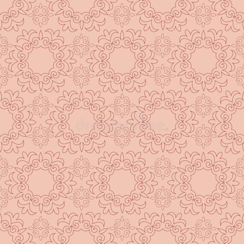 Seamless patterns. Kazakh, Asian, floral seamless pattern. stock illustration