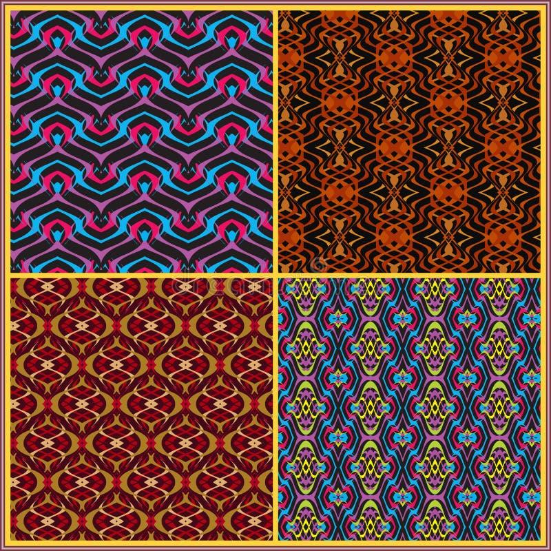 Seamless patterns in oriental style vector illustration