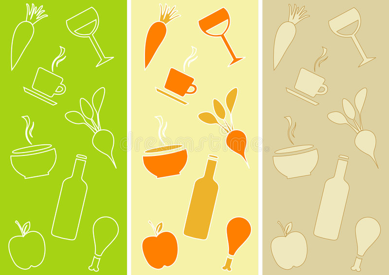 Seamless Patterns: Restaurant Theme stock photo