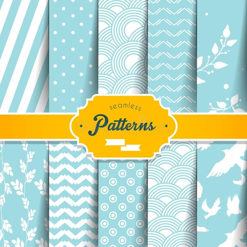 Free Seamless Patterns Set Stock Images - 39967014