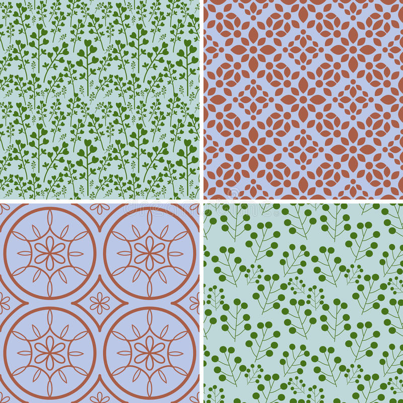 Seamless patterns set. Seamless patterns with decorative ornament vector illustration