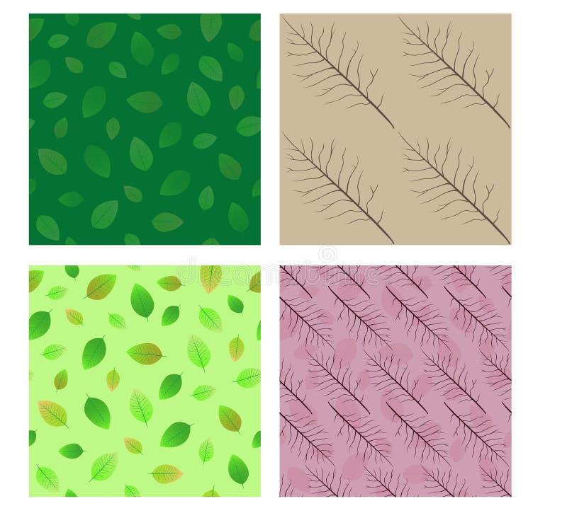 Seamless patterns. Set. stock illustration