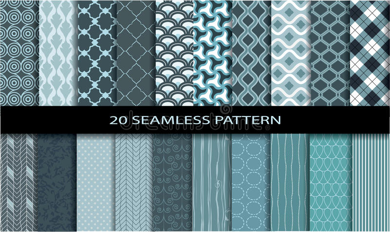 20 Seamless Patterns vector illustration