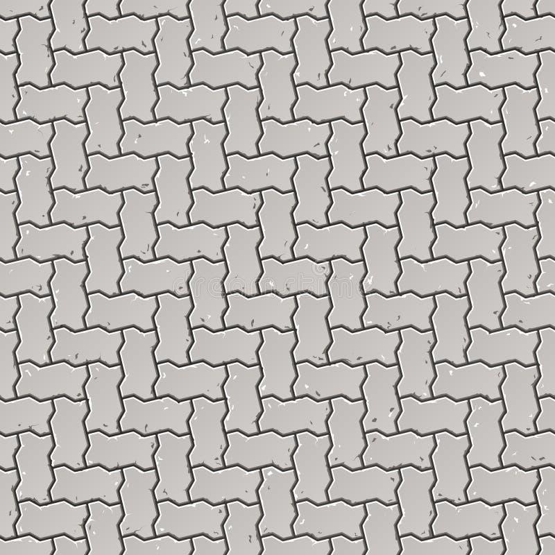 Seamless pavement pattern. Vector illustration of seamless pavement pattern royalty free illustration