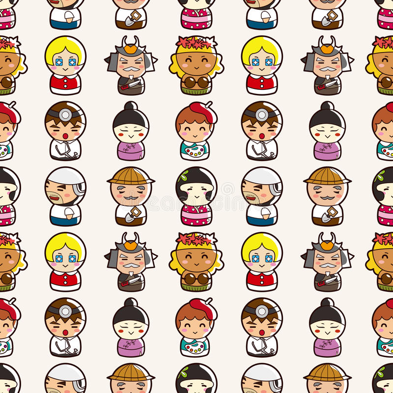 Download Seamless people pattern stock vector. Image of chinese - 28010664