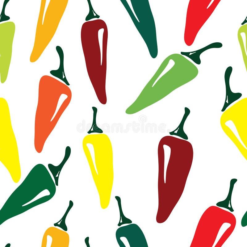 Seamless pepper pattern