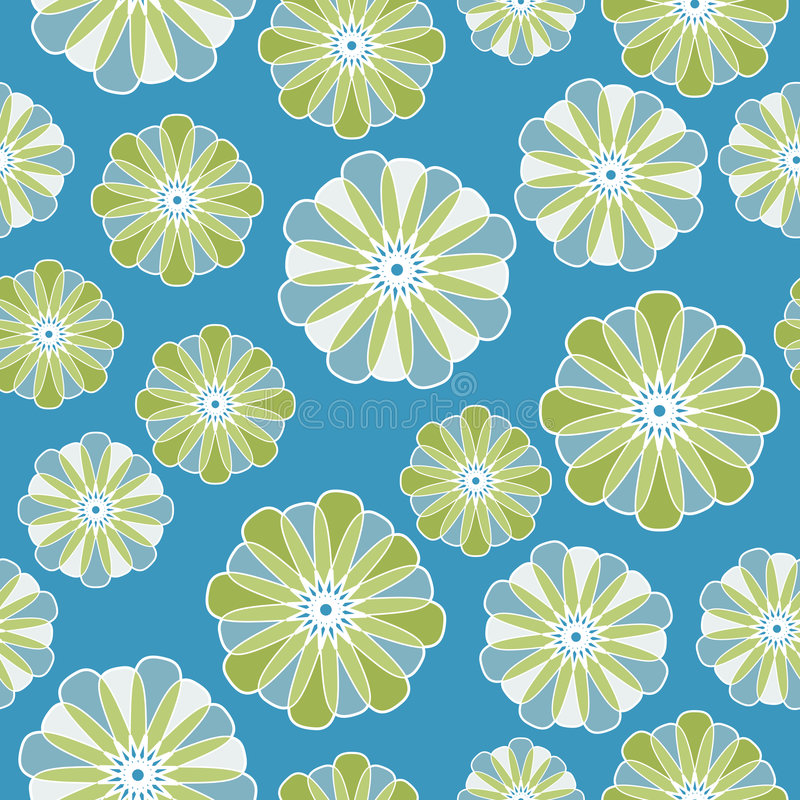 Seamless Persian Flower stock illustration