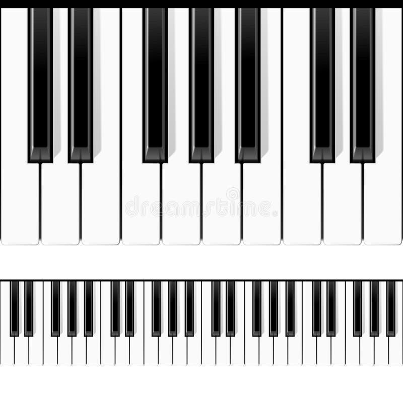 Seamless Piano Keys Stock Photos