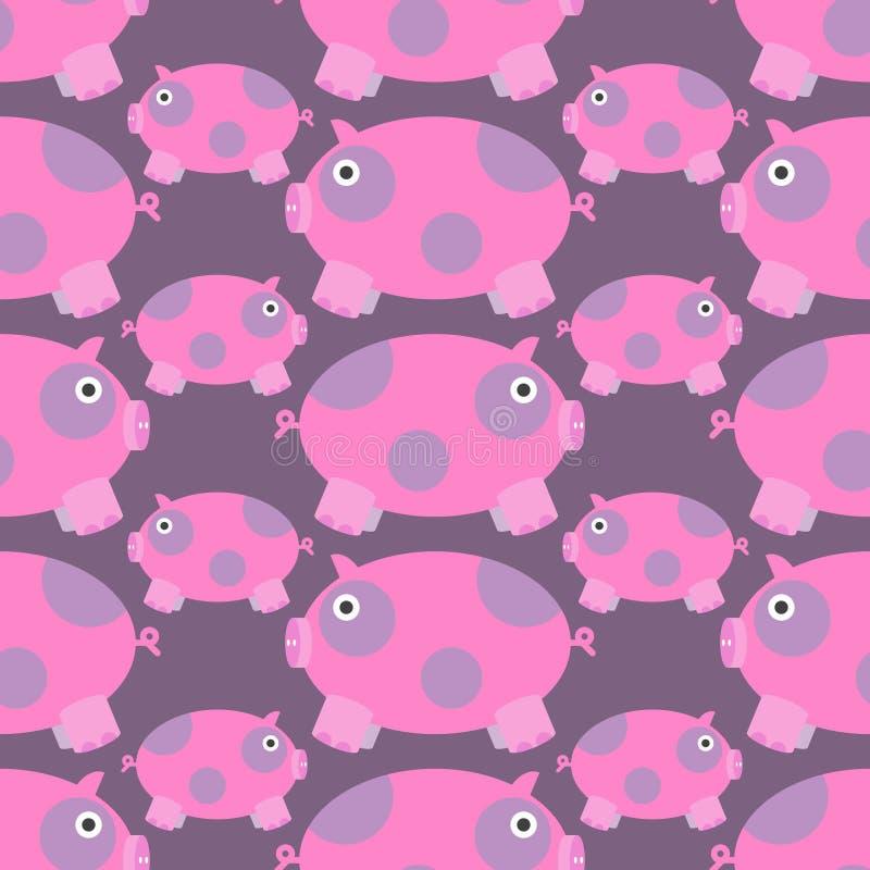 Seamless pig pattern royalty free stock image