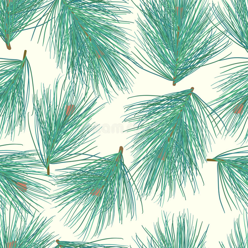 Seamless pine-tree vector background pattern stock images