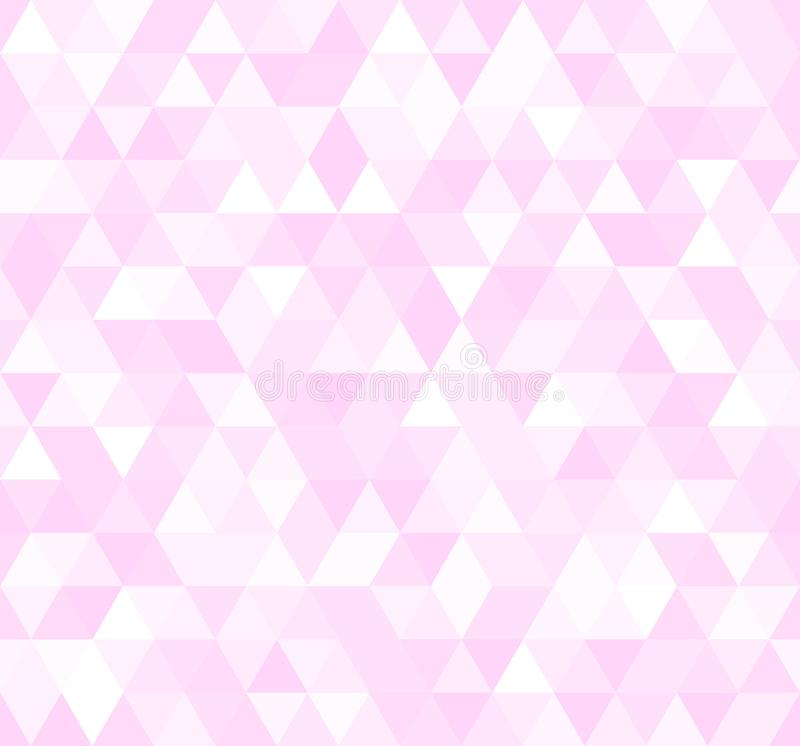 Seamless pink abstract pattern. Geometric print composed of triangles and polygons. Rose background. vector illustration