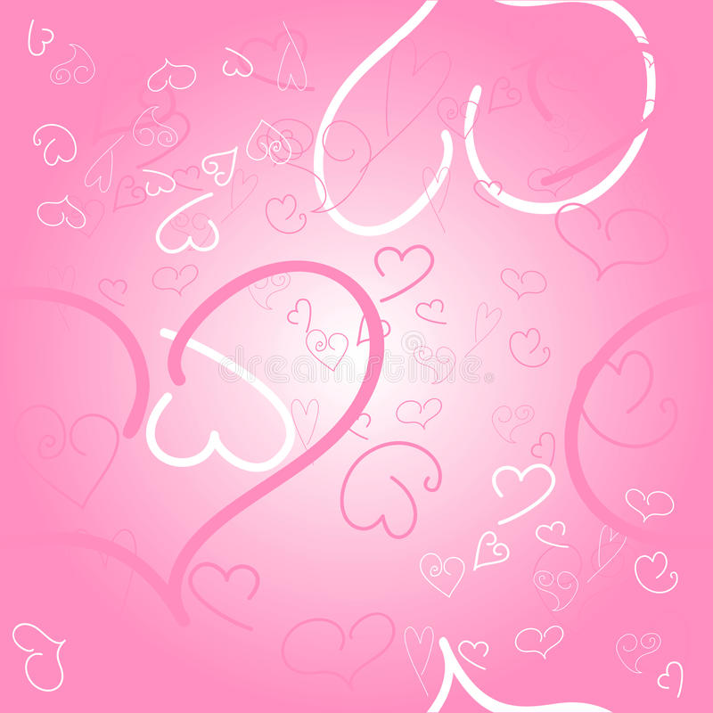 Download Seamless Pink Background With Hearts Stock Vector - Image: 23352655