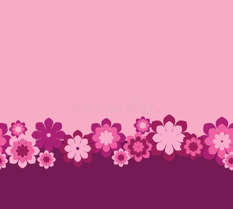 Seamless pink flowers stock illustration