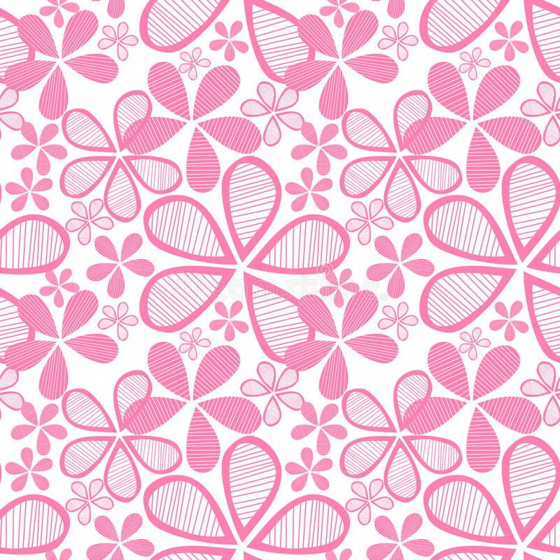 Seamless pink flowers royalty free illustration