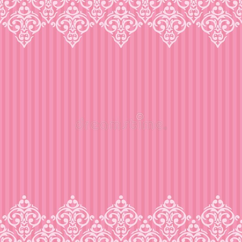 Seamless pink frame/border stock illustration