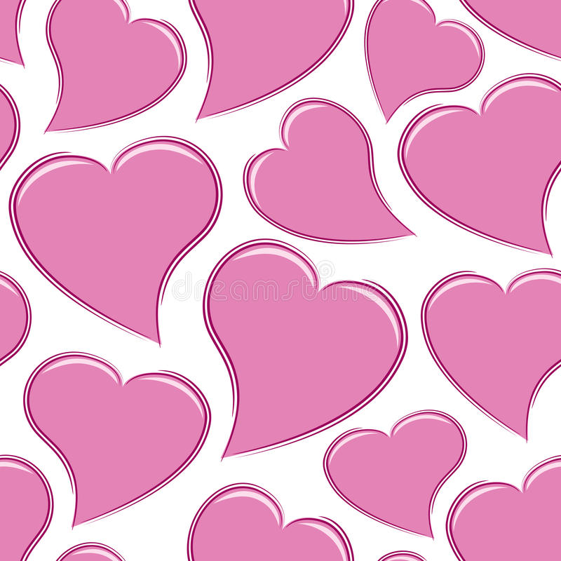 Seamless Pink Hearts