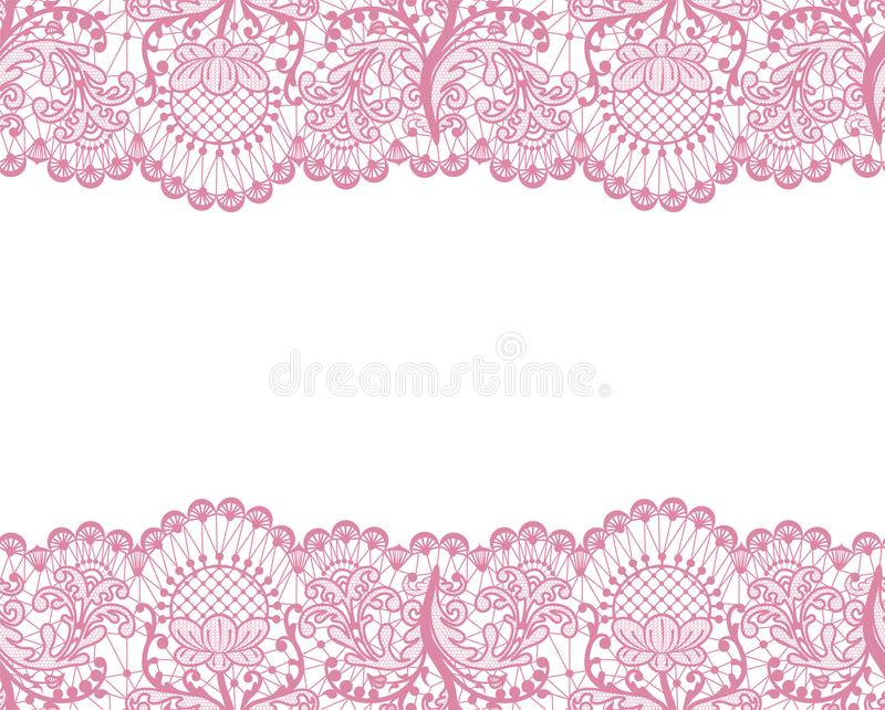 Seamless pink lace royalty free illustration