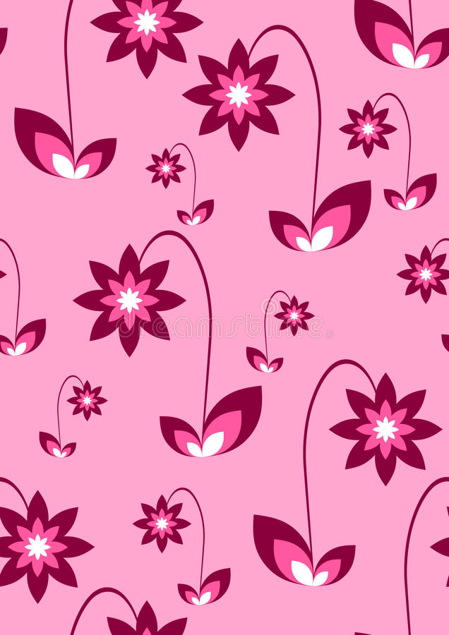Free Seamless Pink Wallpaper Royalty Free Stock Photo - 13701915