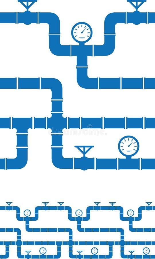 Seamless piping border. Set of seamless piping borders royalty free illustration