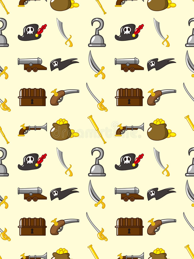 Download Seamless pirate pattern stock vector. Illustration of adventures - 27829190