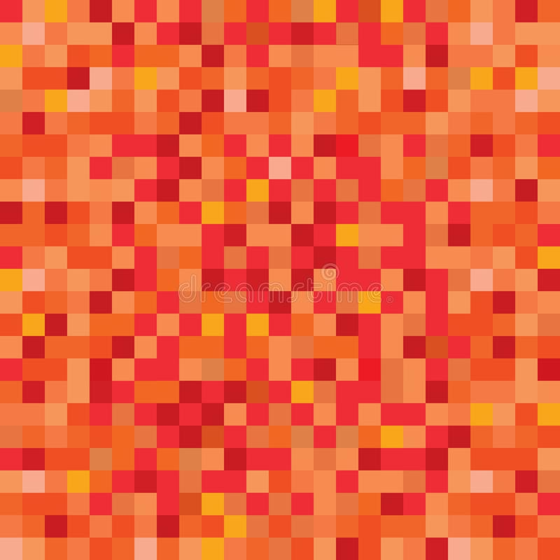 Seamless pixelated lava or fire texture mapping background. For various digital applications stock illustration