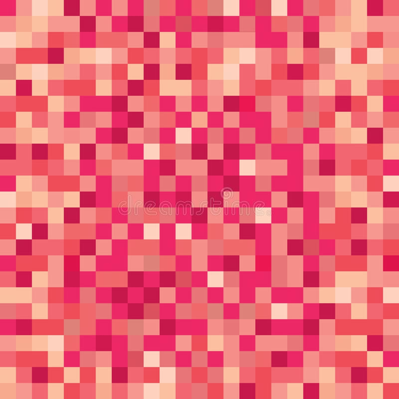 Seamless pixelated ruby red surface texture mapping background for various digital applications. Seamless pixelated ruby red surface texture mapping wallpaper royalty free illustration