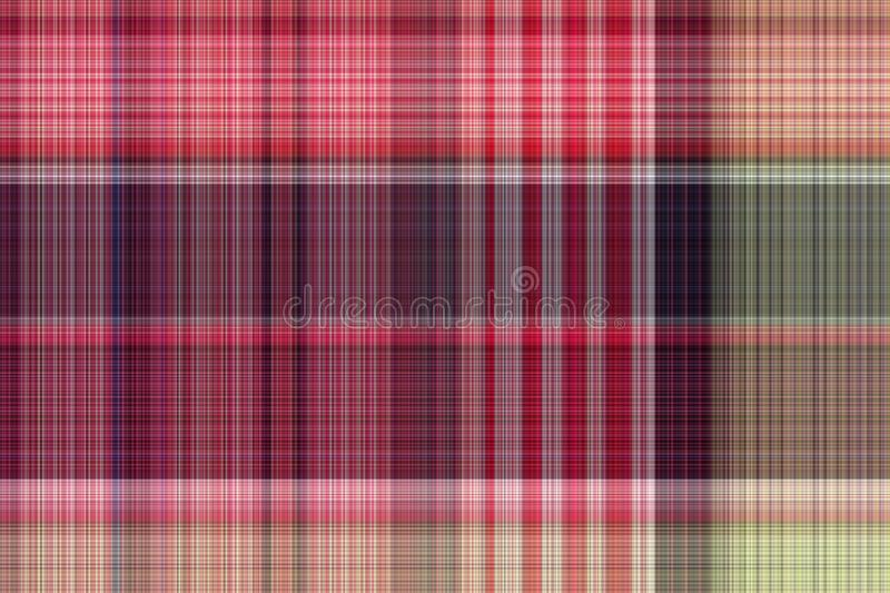 Seamless plaid fabric loincloth with stripe color abstract bac. Kground pattern texture royalty free stock images