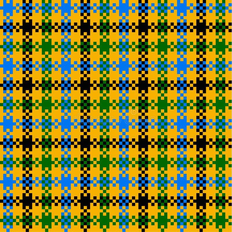 Seamless plaid pattern stock illustration