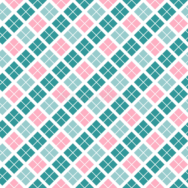 Seamless plaid pattern good for Easter and Thanksgiving, the birth of a child and other family events stock photos