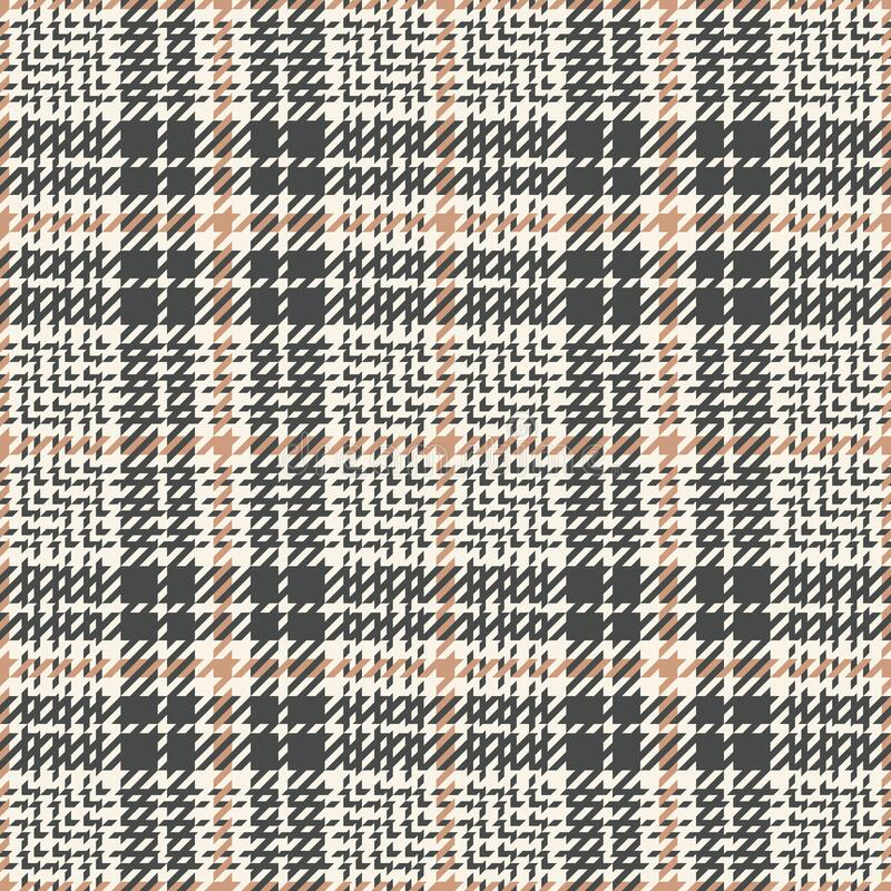 Free Seamless Plaid Pattern Tweed In Grey And Beige. Glen Tartan Check Plaid Graphic Vector For Spring Autumn Winter Skirt, Jacket. Royalty Free Stock Image - 217626476