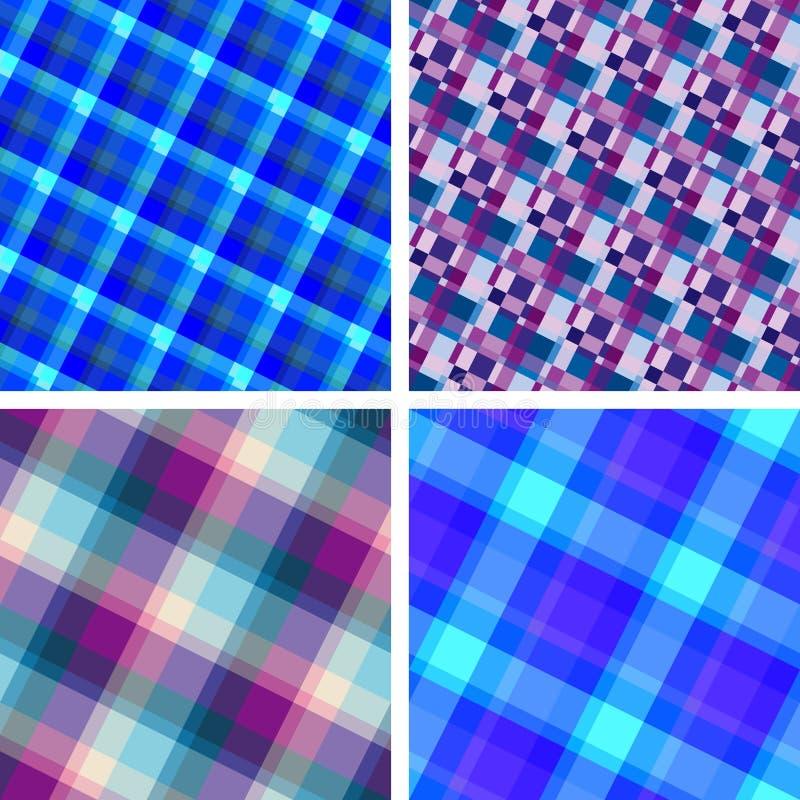 Seamless plaid patterns royalty free illustration
