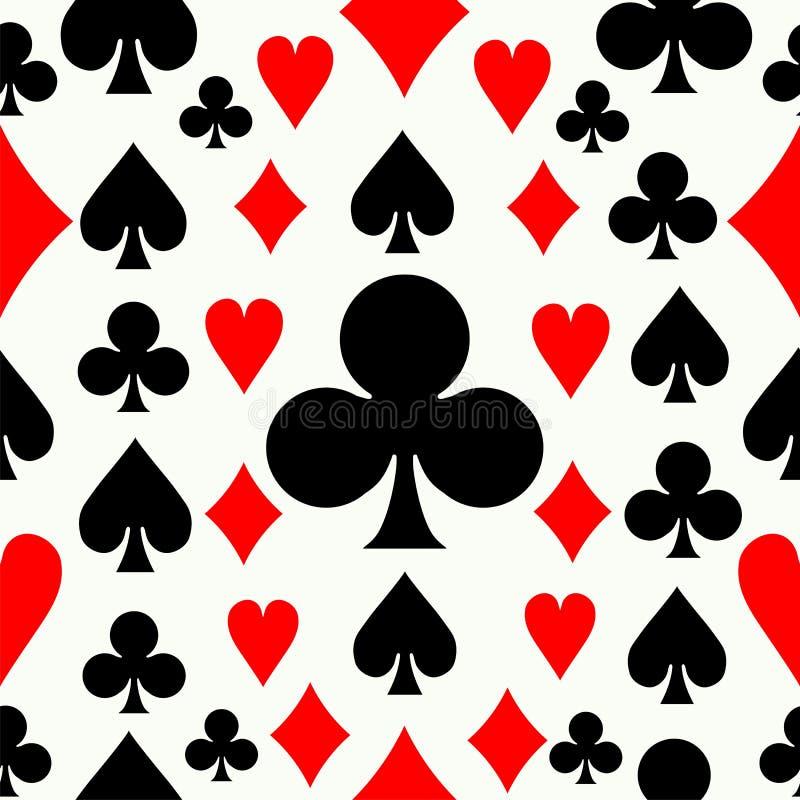 Seamless pokermodellbakgrund royaltyfri illustrationer