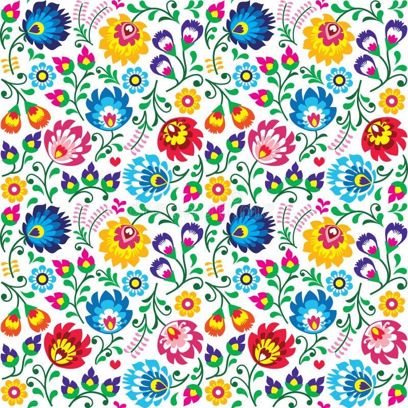 Free Seamless Polish Folk Art Floral Pattern - Wzory Lowickie, Wycinanki Stock Image - 53501191