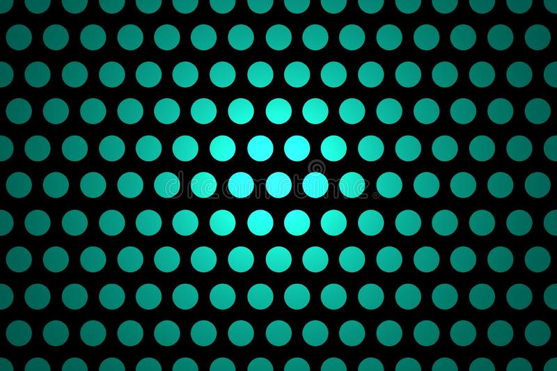 Seamless Polka Dot Background - Abstract Black And Cyan Shiny Template vector illustration