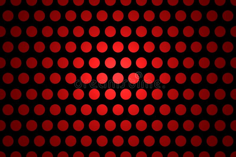 Seamless Polka Dot Background - Abstract Black And Red Shiny Template royalty free illustration