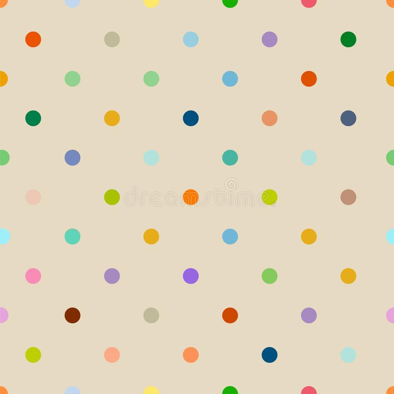 seamless polka dot background pattern clean style, vector illustration stock illustration