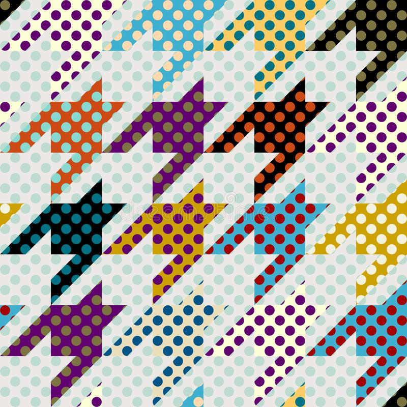 Seamless polka dot pattern. Seamless geometric pattern. Classic polka dot pattern in a patchwork collage style. Vector image royalty free illustration