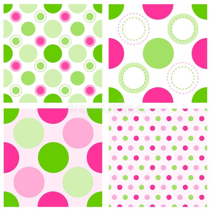 Seamless polka dots royalty free stock photography