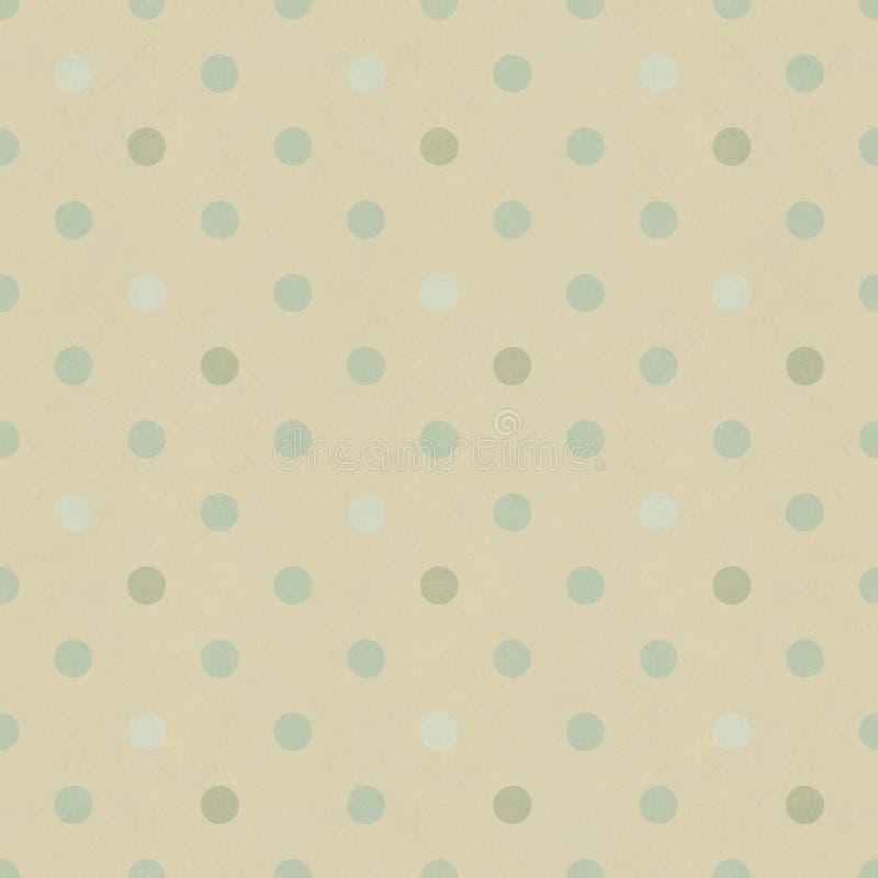 Seamless polka dots pattern. On vintage paper texture stock illustration