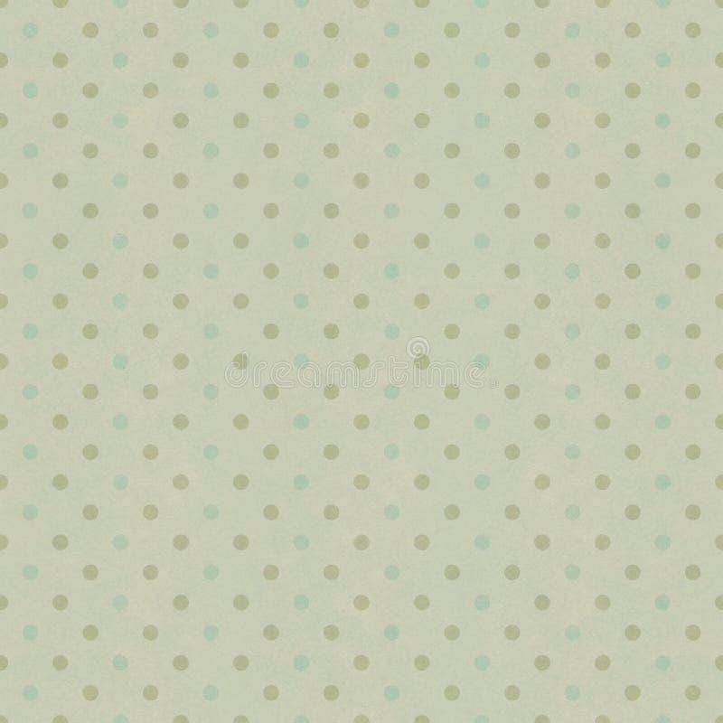 Seamless polka dots pattern. On vintage paper texture vector illustration