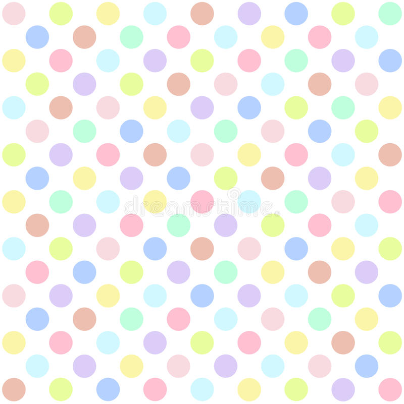 Seamless polka dots pattern background.  vector illustration