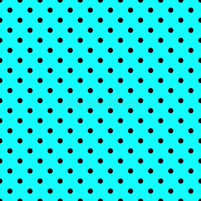 Seamless polka dots pattern. In blue color vector illustration