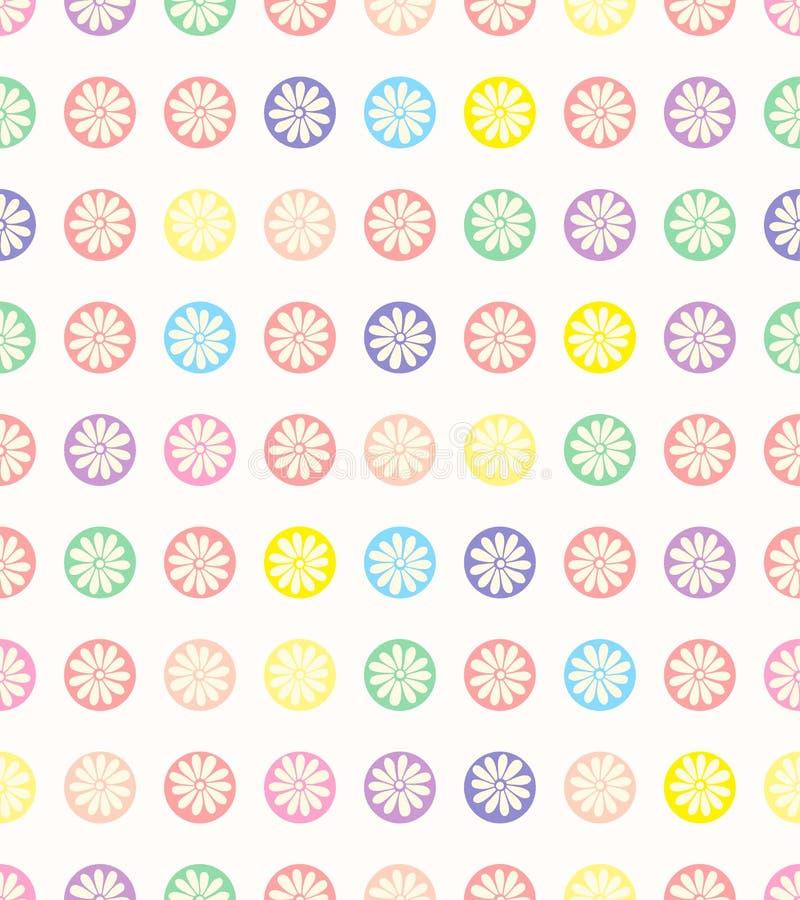 Seamless polka dots pattern. Seamless polka dots pattern, floral background royalty free illustration