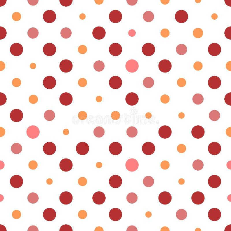Seamless polka dots stock photos
