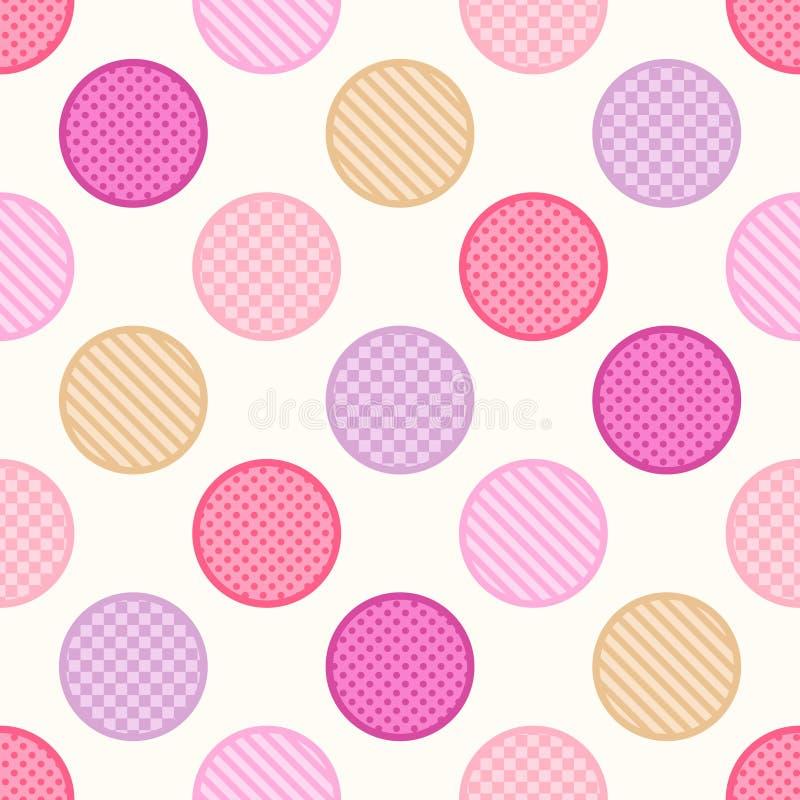 Seamless polka dots textured background. Seamless polka dots textured pattern background royalty free illustration