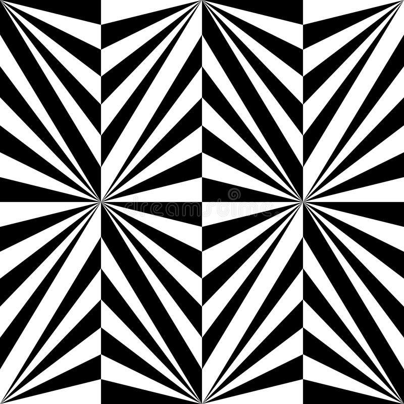 Seamless Polygonal Black and White Striped Pattern. Geometric Abstract Background. Suitable for textile, fabric and packaging. Vector Illustration royalty free illustration
