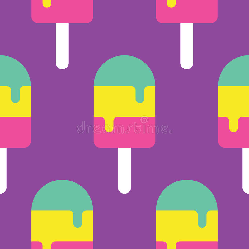 Seamless Popsicle Pattern royalty free stock photos