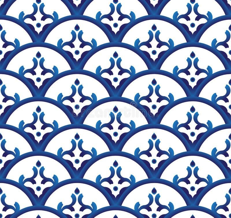 Porcelain pattern vector vector illustration