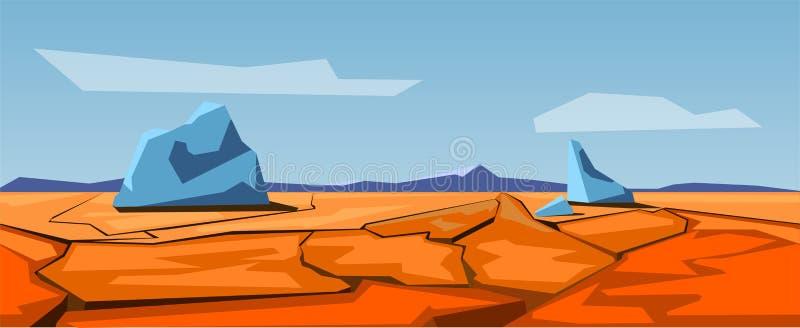 Seamless prairie landscape,. Illustration stock illustration