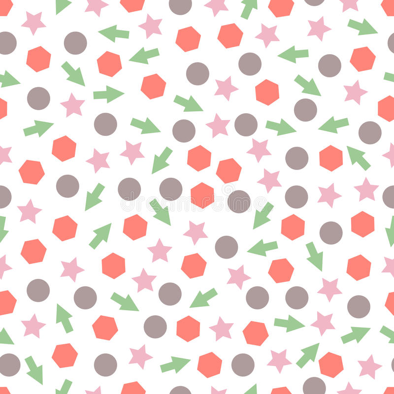 Seamless primitive geometric patterns for tissue and postcards. royalty free illustration